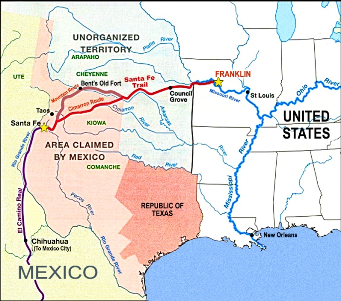Map-of-Santa-Fe-Trail