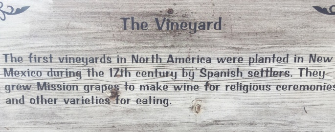 Vineyard sign